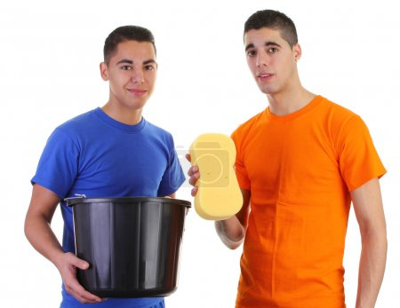 Two cleaning guys