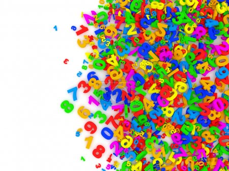 Colorful Numbers Abstract Background with place for your text