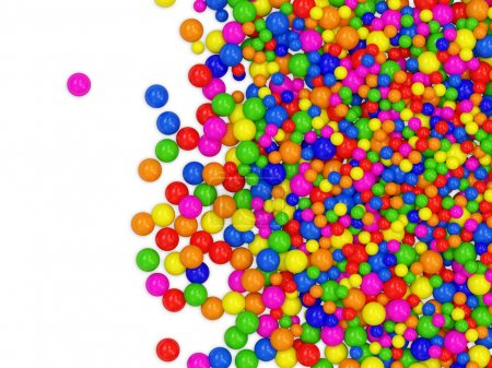 Many colored balls abstract background with place for your text