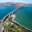 The Golden Gate Bridge in San Francisco bay...