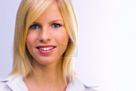 Photo for Young beautiful woman smiling - Royalty Free Image
