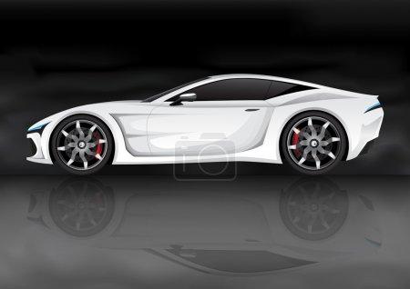Illustration pour Vecteur réaliste voiture de sport (ma propre conception ) - image libre de droit