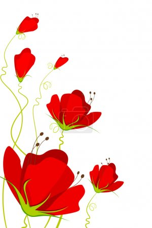 Illustration for Illustration of beautiful flower on abstract background - Royalty Free Image