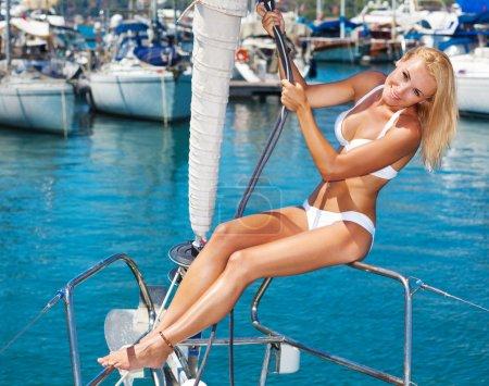 Summertime sailing vacation