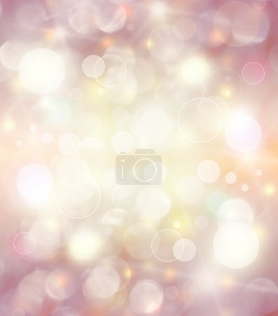 Photo for Abstract holiday background, beautiful shiny christmas lights, glowing magic bokeh - Royalty Free Image