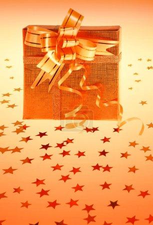 Gift box with stars