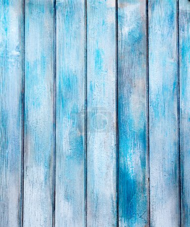 Photo for Aged blue painted grunge wood texture background - Royalty Free Image