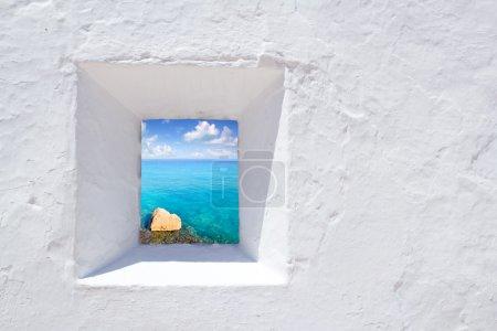 Ibiza mediterranean white wall window