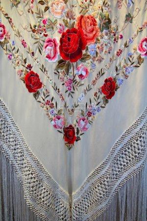 Photo for Madrid manton de Manila shawl typical in San Isidro fest - Royalty Free Image