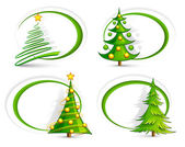 Christmas banners on white background