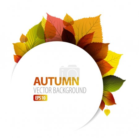 Illustration for Autumn abstract floral background with place for your text - Royalty Free Image