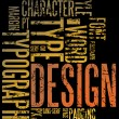 Grunge design and typography background...