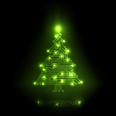 Vector christmas tree from digital circuit