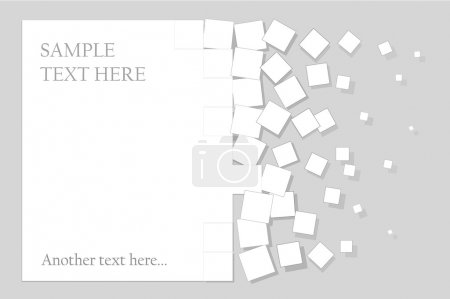 Illustration for Abstract background paper, which is divided into squares - Royalty Free Image