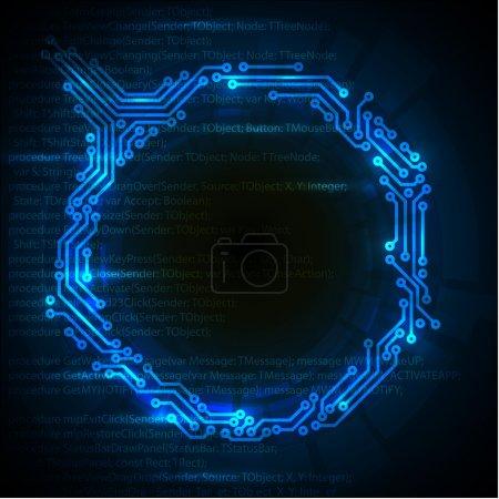 Photo pour Vector Abstrait fond technique bleu avec place pour votre texte - image libre de droit