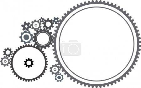 Illustration for Various cogwheels - illustration on white background - Royalty Free Image