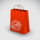 Icona rossa borsa shopping