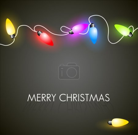 Vector Christmas background with colorful lights