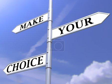Make your choice arrows