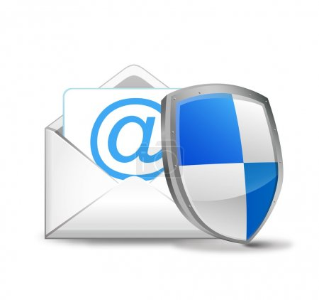 Vector email with security shield