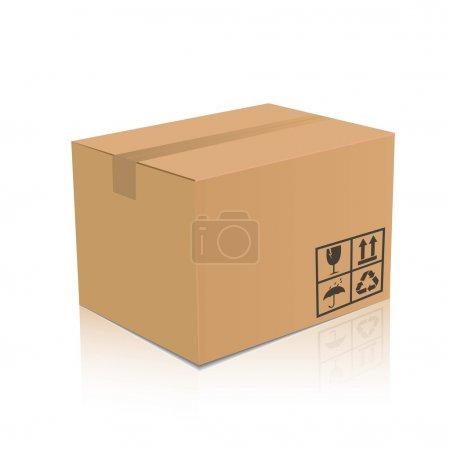 Vector cardboard box