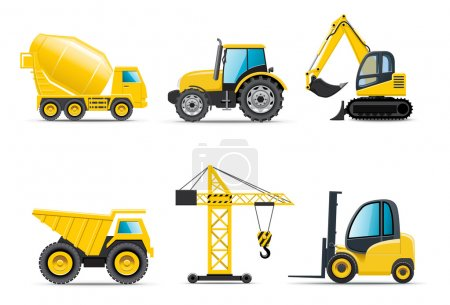 Illustration for Building machines | Bella series - Royalty Free Image