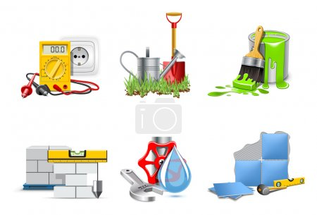 Illustration for Renovation icons | Bella series - Royalty Free Image