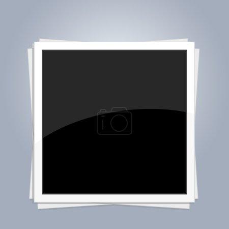 Illustration pour Cadre photo vierge - image libre de droit