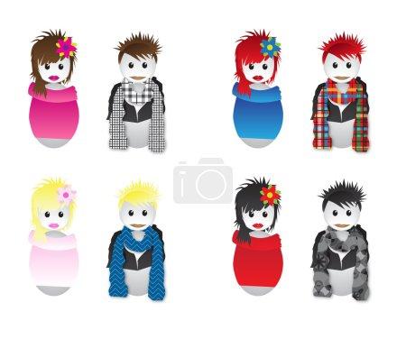 Girls and boys mascotes