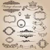 Set of vintage elements for your design