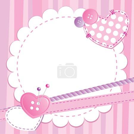 Cute pink frame