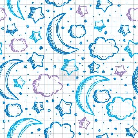 Pattern with night sky