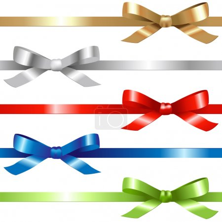 Illustration for 5 Ribbons, Isolated On White Background, Vector Illustration - Royalty Free Image