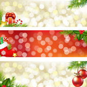 3 Christmas Banners Vector Illustration