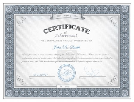 Illustration for Vector illustration of detailed cerificate - Royalty Free Image