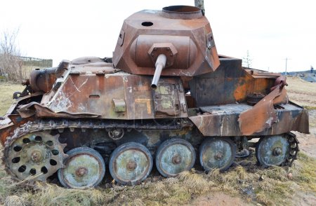 Rusty old german military tank