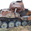 The photo of rusty german old military tank...