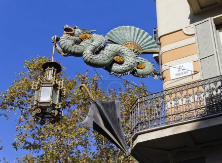 Dragon House of umbrellas, La Rambla, Barcelona...