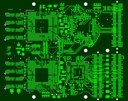 Photo for The printed circuit board. Without electronic components - Royalty Free Image