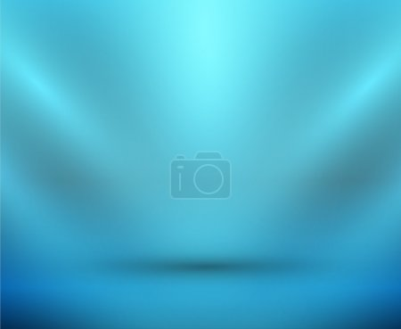 Vector blank light room blue