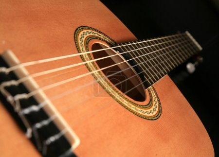 Photo for Guitar with dark background - Royalty Free Image