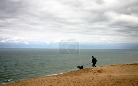 Summer in denmark: man with dog