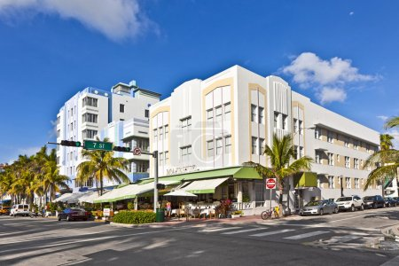 Photo for Beautiful houses in Art Deco style in South Miami - Royalty Free Image