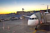 Airplane preparing to flight