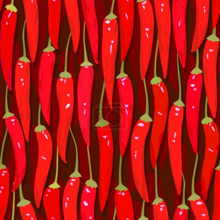 Red cayenne chili pepper seamless