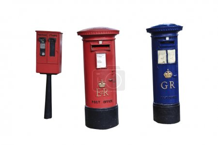 Georgian and Elizabethan Royal Mail letter boxes in England with