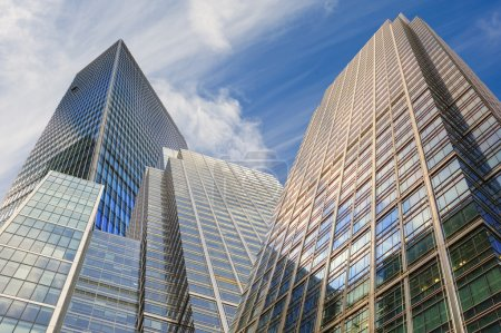 Photo for Buusiness concept financial district modern skyscrapers - Royalty Free Image