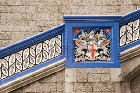 Photo for Detail of Tower Bridge London Crest Heraldry - Royalty Free Image
