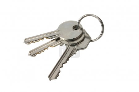 Photo for 3 keys on white back-ground - Royalty Free Image