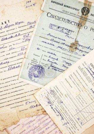 Photo pour Anciens documents et informations comme arrière-plan - image libre de droit